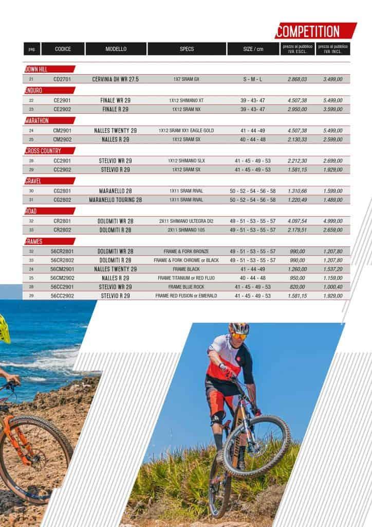 Listino Prezzi Lombardo bikes ed ebikes 2020. Evolution serie.pagina 1