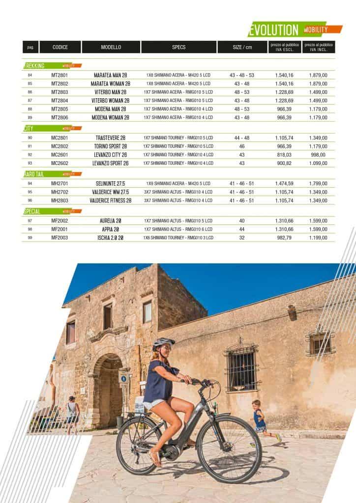 Listino Prezzi Lombardo bikes ed ebikes 2020. Pagina 3