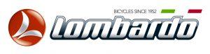 Logo Lombardo con scritta bicycles since 1952 sopra e colori Italia stilizzati.