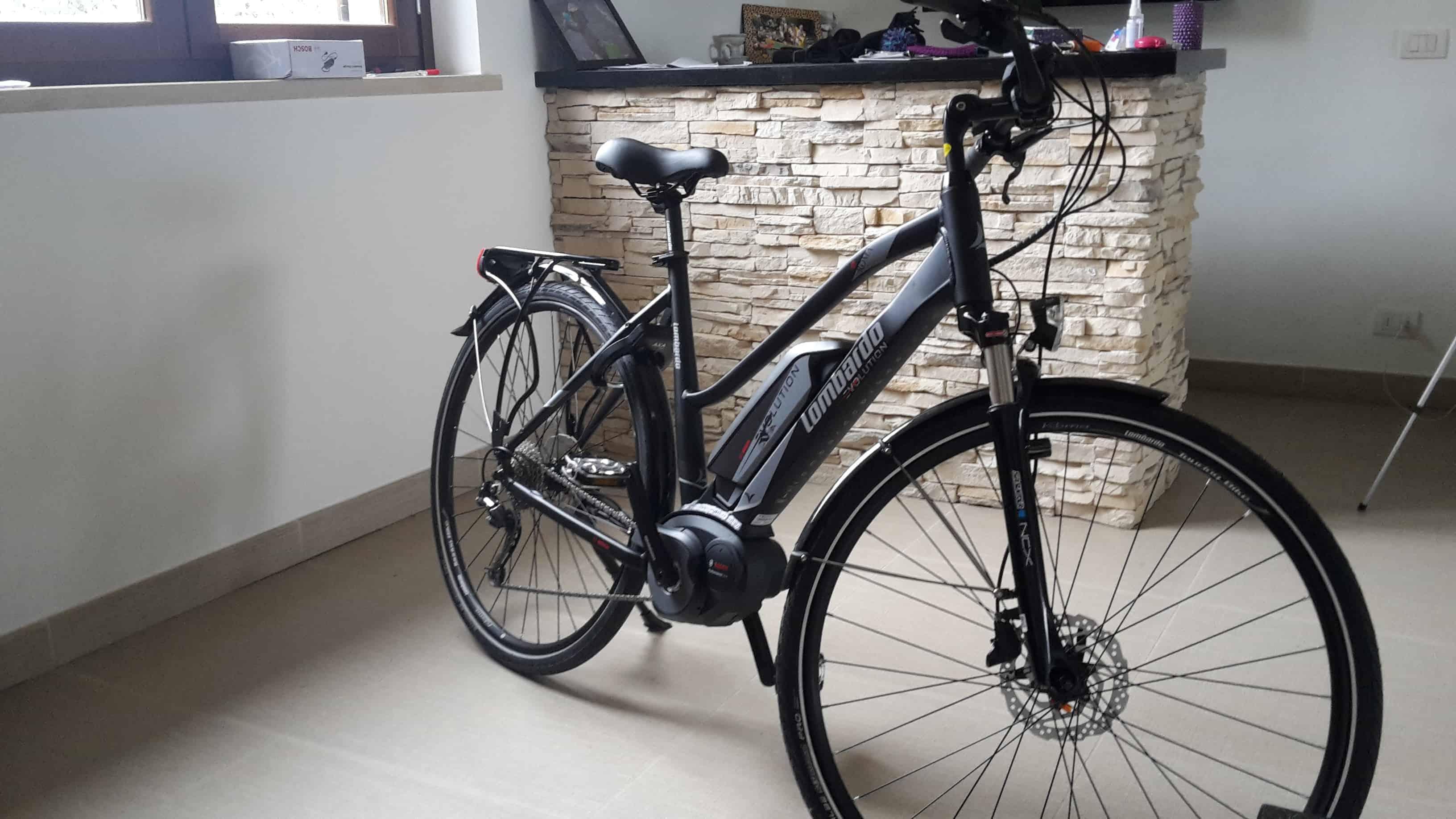 primo utilizzo Bici Elettrica e-Roma 7.0 Lombardo 2018.