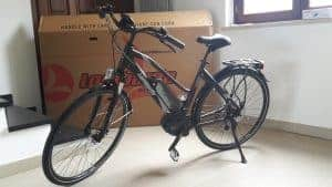Primo utilizzo bici elettrica e-Roma 7.0 2018