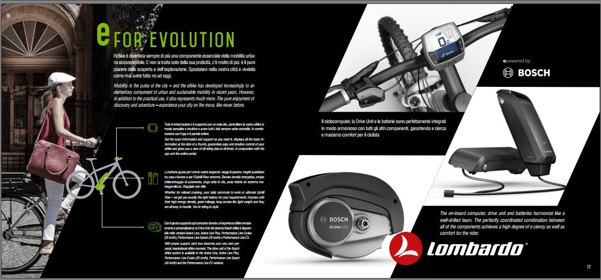 Lombardo 2018 e Motore Bosch sono e for EVOLUTION.