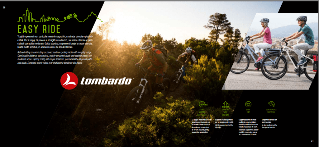 Easy Ride dal Catalogo Lombardo Bikes 2018