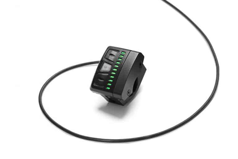 Consolle Led e pulsanti di controllo per Fazua System Motor montato su e-Mugello eBike 2018 Lombardo.