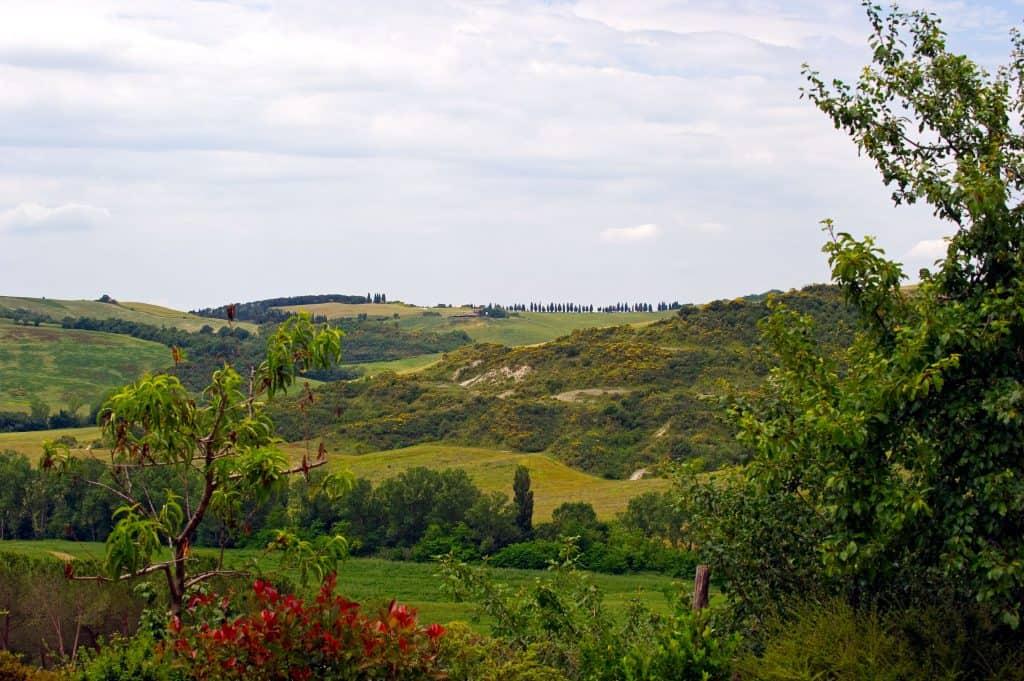 Val D'Orcia: dove si trova... in Toscana, parte Sud: i ciclisti per l'e-bike test Lombardo vedranno questi panorami.