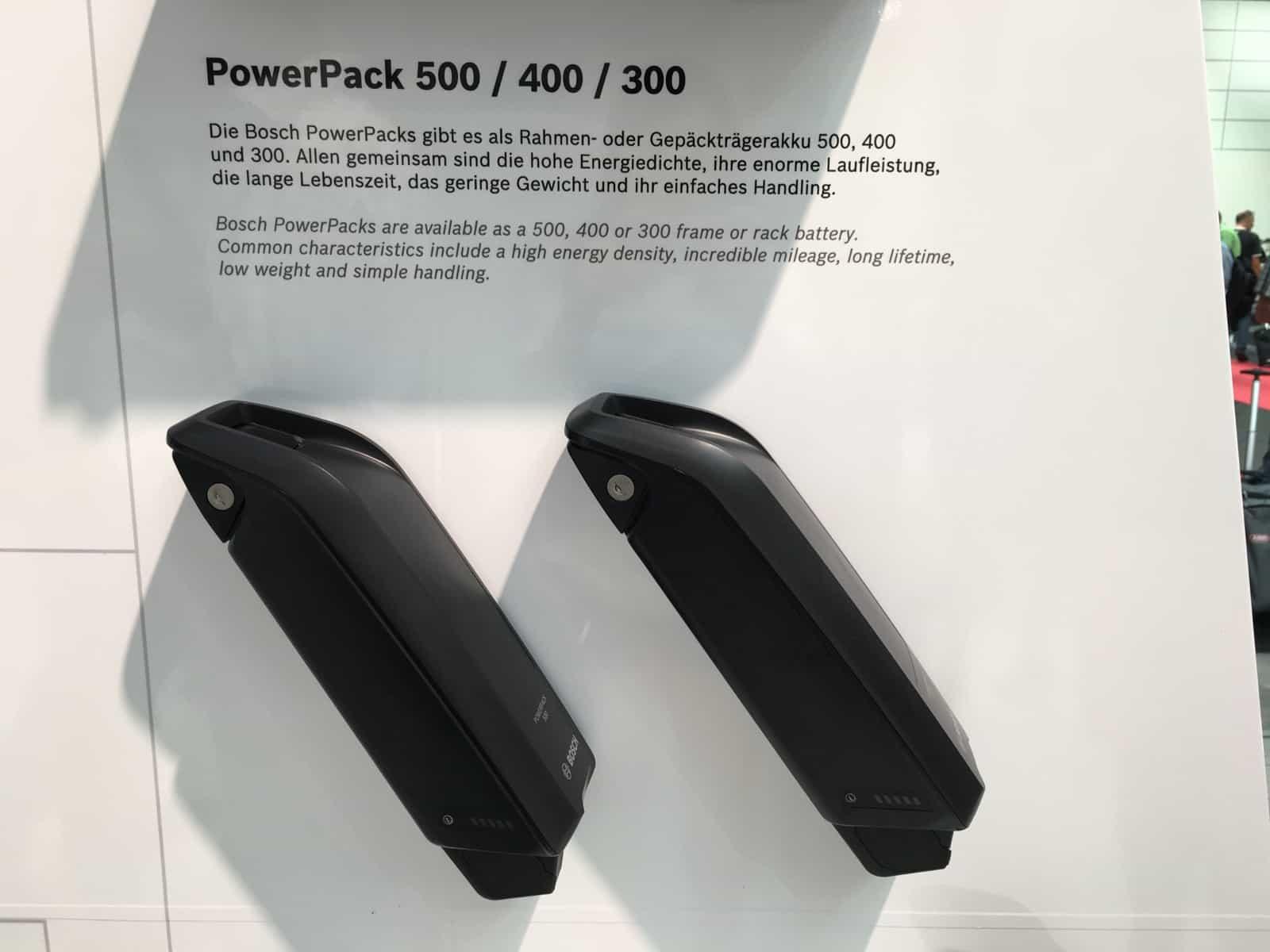 powerpack bosch batterie telaio 300 400 500 watt vari. Black Bedroom Furniture Sets. Home Design Ideas