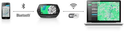 I Display Bosch Nyon può collegarsi sia al telefono che al personal computer in modalità wireless(senza fili).