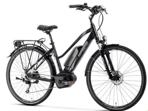 Bicicletta Elettrica e-Roma 7.0 Trekking Donna eBike con luci,parafanghi, portapacchi per Donna.