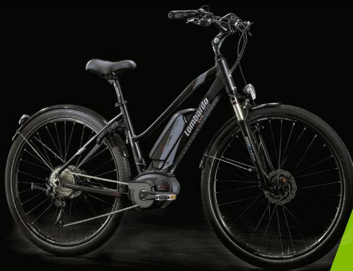 e-Roma 8.0 Donna Trekking con forcelle ammortizzate e luci. Lombardo e-Bike 2018.
