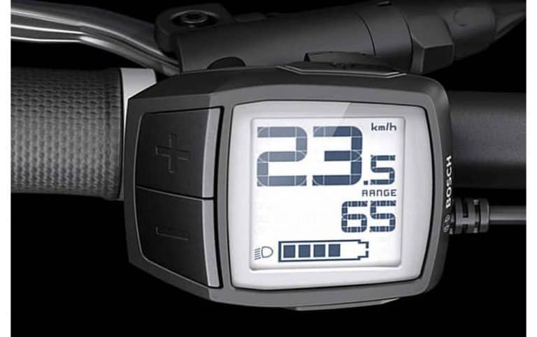 Display compatto Bosch Purion sulle Display Bosch Purion per le Top di Gamma e-MTB ed e-Bike dei modelli 2018.