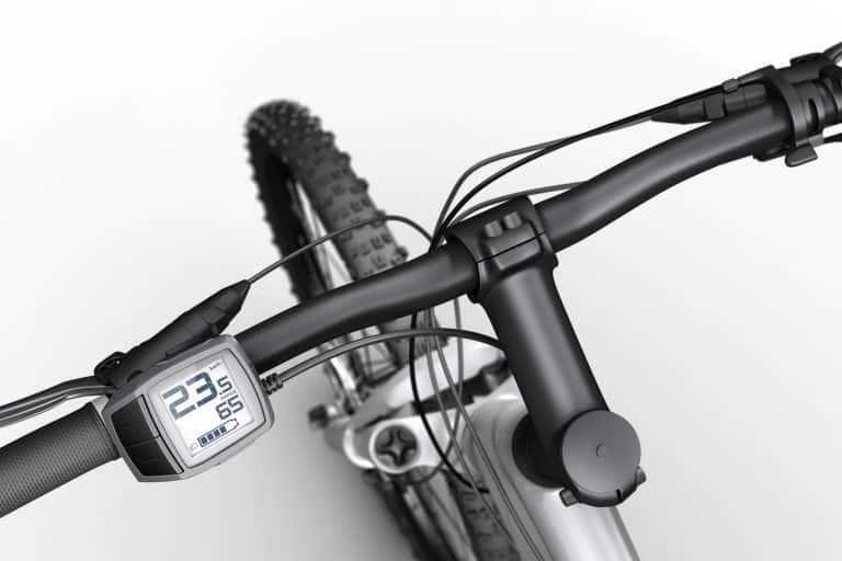 Purion Bosch Display colore Platino, montato su eMTB a pedalata assistita.