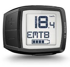 Display LCD Bosch Purion con visualizzato Km/h, modalità assistita e stato batteria.