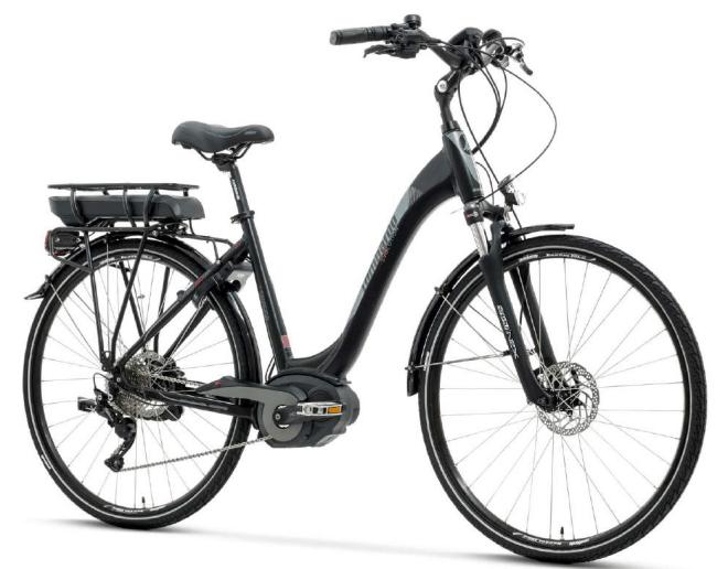e-Montecatini SPORT 8.0 Lombardo e-bike 2018 con motore Bosch Performance 63Nm Torque e PowerPack 500W Portapacchi.