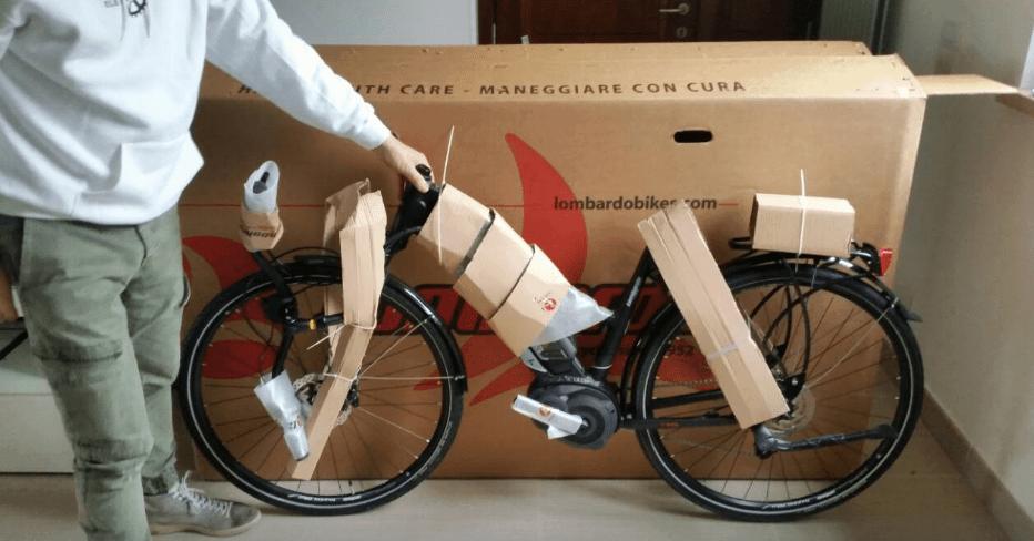 Primo utilizzo bici elettrica: come arriva l'e-bike.