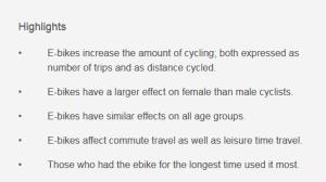 Ricerca Norvegese sugli effetti di avere un e-Bike a disposizione.