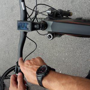display stile minimal per la Mont Blanc in carbonio prodotta da lomabrdo e-bike per il 2019