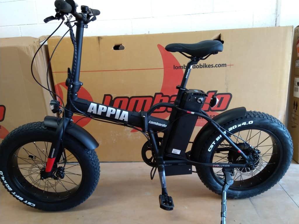 Appia Fat Bike pieghevole prodotta da Lombardo Bikes and e-Bikes